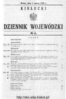 Kielecki Dziennik Wojewódzki 1935, nr 4
