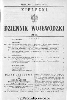 Kielecki Dziennik Wojewódzki 1935, nr 5