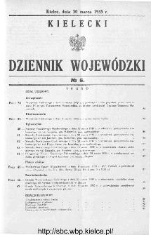 Kielecki Dziennik Wojewódzki 1935, nr 6
