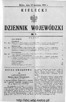Kielecki Dziennik Wojewódzki 1935, nr 7