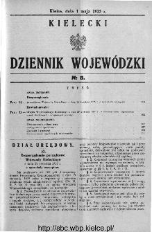 Kielecki Dziennik Wojewódzki 1935, nr 8