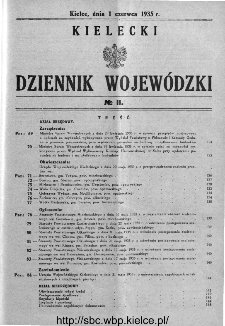 Kielecki Dziennik Wojewódzki 1935, nr 11
