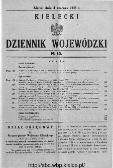 Kielecki Dziennik Wojewódzki 1935, nr 12