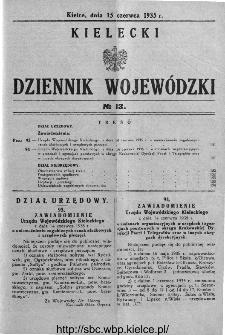 Kielecki Dziennik Wojewódzki 1935, nr 13