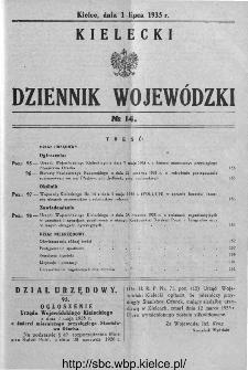 Kielecki Dziennik Wojewódzki 1935, nr 14