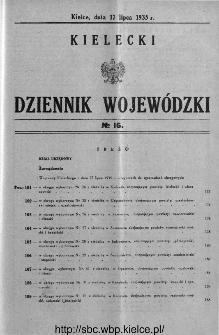 Kielecki Dziennik Wojewódzki 1935, nr 16