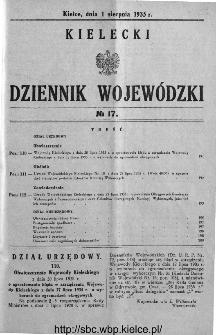 Kielecki Dziennik Wojewódzki 1935, nr 17