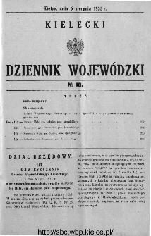 Kielecki Dziennik Wojewódzki 1935, nr 18