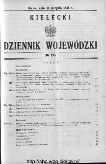 Kielecki Dziennik Wojewódzki 1935, nr 19