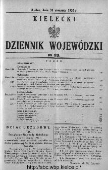 Kielecki Dziennik Wojewódzki 1935, nr 20