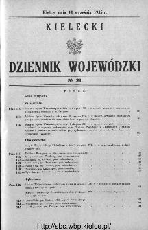 Kielecki Dziennik Wojewódzki 1935, nr 21