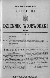 Kielecki Dziennik Wojewódzki 1935, nr 22