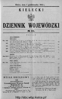 Kielecki Dziennik Wojewódzki 1935, nr 24