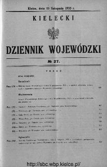Kielecki Dziennik Wojewódzki 1935, nr 27