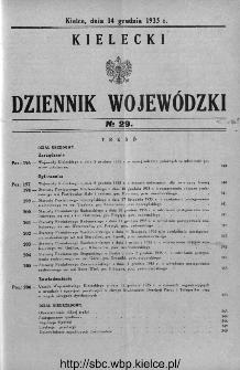 Kielecki Dziennik Wojewódzki 1935, nr 29