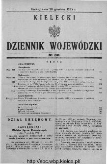 Kielecki Dziennik Wojewódzki 1935, nr 30