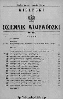 Kielecki Dziennik Wojewódzki 1935, nr 31