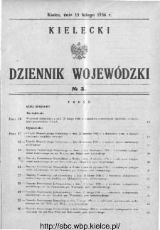 Kielecki Dziennik Wojewódzki 1936, nr 3