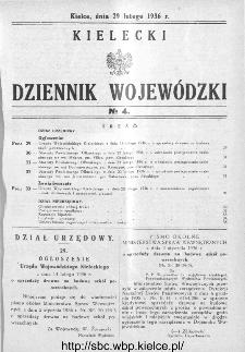 Kielecki Dziennik Wojewódzki 1936, nr 4