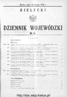 Kielecki Dziennik Wojewódzki 1936, nr 5