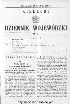 Kielecki Dziennik Wojewódzki 1936, nr 9