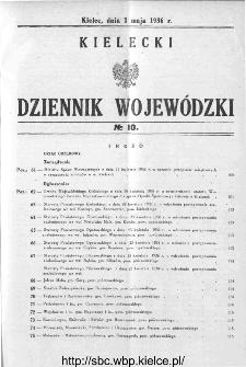 Kielecki Dziennik Wojewódzki 1936, nr 10