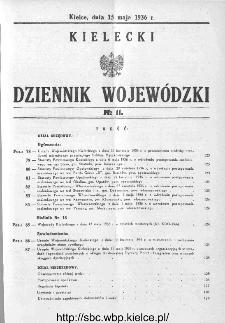 Kielecki Dziennik Wojewódzki 1936, nr 11