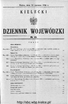 Kielecki Dziennik Wojewódzki 1936, nr 13