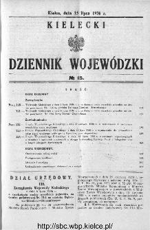 Kielecki Dziennik Wojewódzki 1936, nr 15