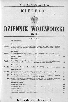 Kielecki Dziennik Wojewódzki 1936, nr 17