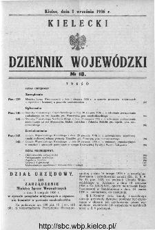 Kielecki Dziennik Wojewódzki 1936, nr 18