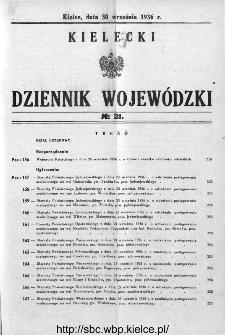 Kielecki Dziennik Wojewódzki 1936, nr 21
