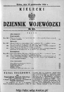 Kielecki Dziennik Wojewódzki 1936, nr 22