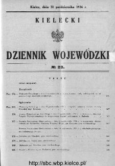 Kielecki Dziennik Wojewódzki 1936, nr 23