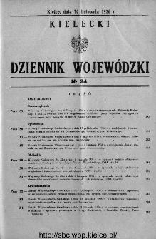 Kielecki Dziennik Wojewódzki 1936, nr 24