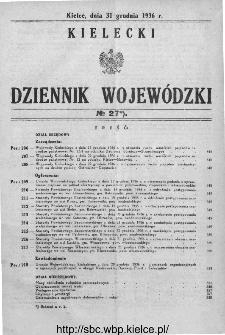 Kielecki Dziennik Wojewódzki 1936, nr 27