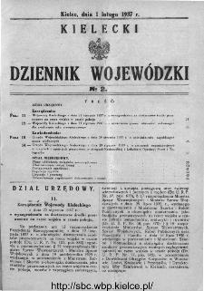 Kielecki Dziennik Wojewódzki 1937, nr 2