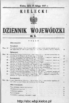 Kielecki Dziennik Wojewódzki 1937, nr 3