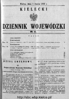 Kielecki Dziennik Wojewódzki 1937, nr 4