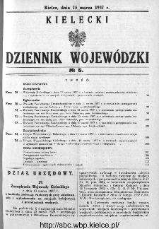 Kielecki Dziennik Wojewódzki 1937, nr 6
