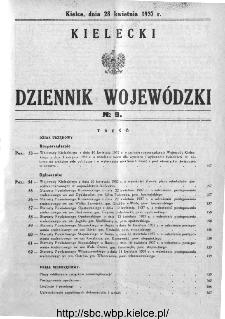 Kielecki Dziennik Wojewódzki 1937, nr 9