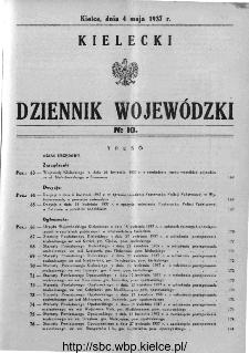 Kielecki Dziennik Wojewódzki 1937, nr 10