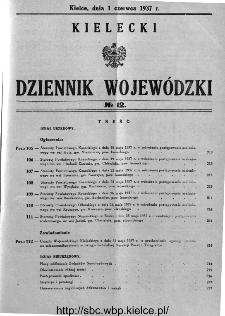 Kielecki Dziennik Wojewódzki 1937, nr 12