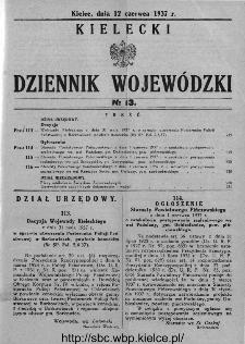 Kielecki Dziennik Wojewódzki 1937, nr 13