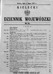 Kielecki Dziennik Wojewódzki 1937, nr 15