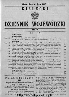 Kielecki Dziennik Wojewódzki 1937, nr 17