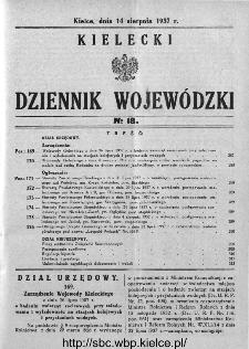 Kielecki Dziennik Wojewódzki 1937, nr 18