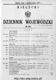 Kielecki Dziennik Wojewódzki 1937, nr 21