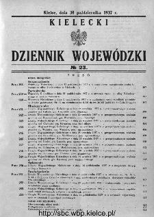 Kielecki Dziennik Wojewódzki 1937, nr 23