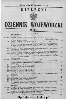 Kielecki Dziennik Wojewódzki 1937, nr 24